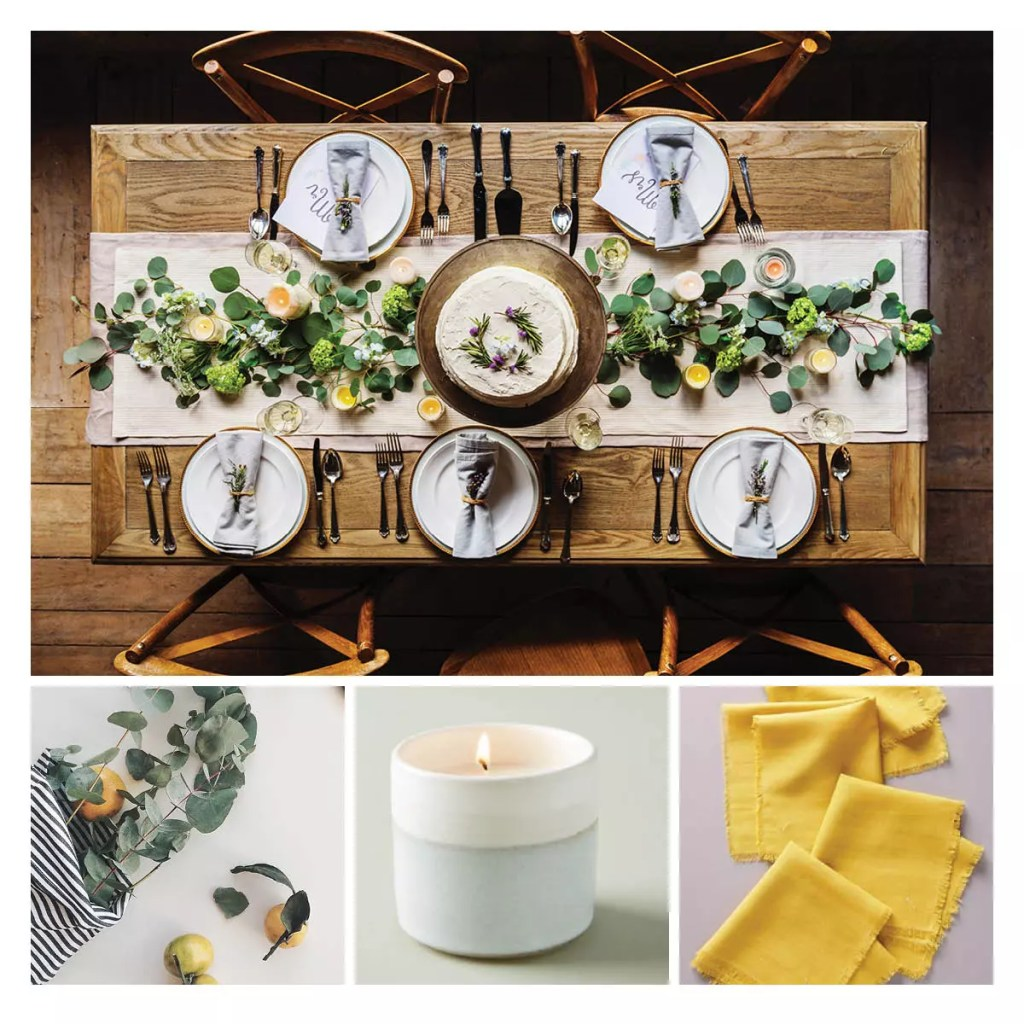 Rustic Farmhouse Table Setting Design - Catherine French Design