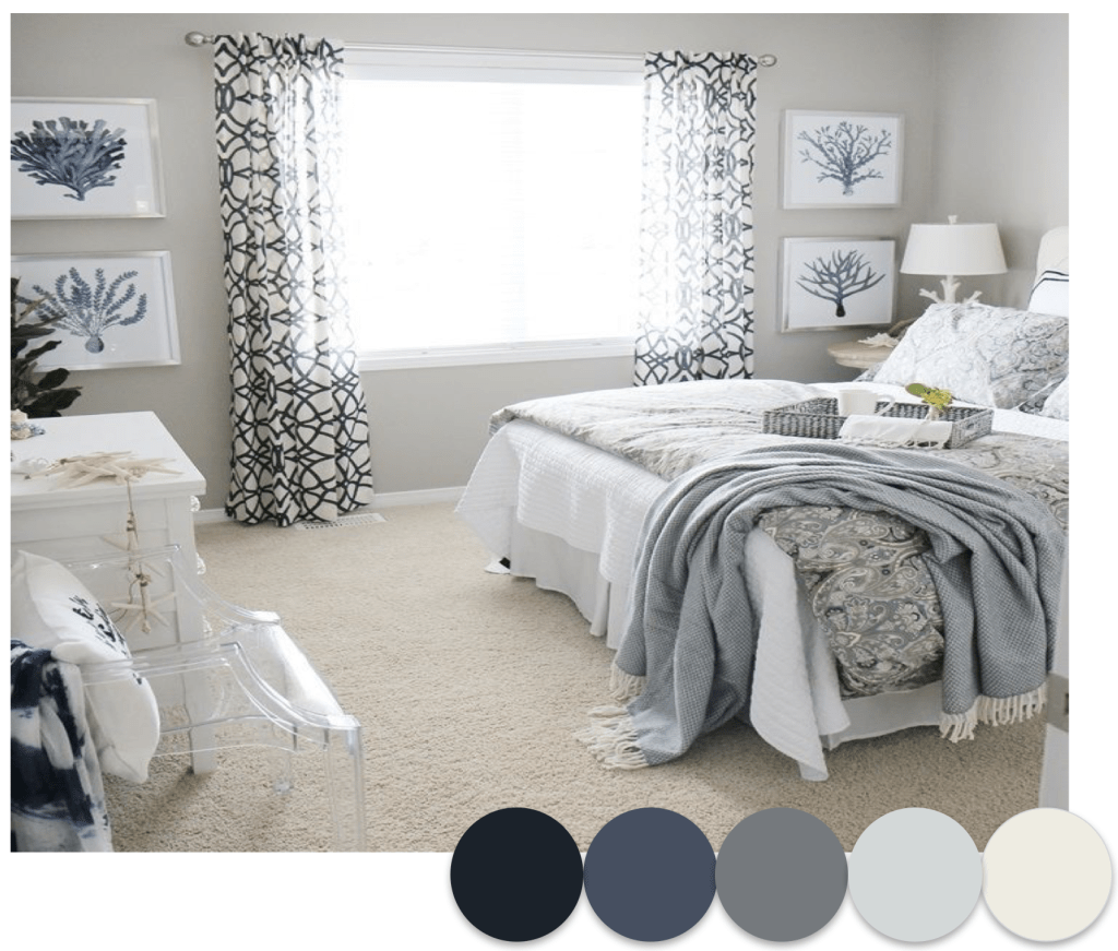 Coastal Inspired Guest Room - Catherine French Design