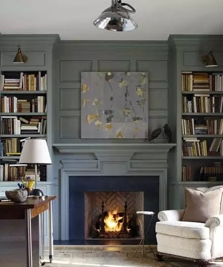 Fireplace Accent Wall - Catherine French Design