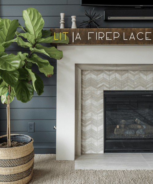 Catherine French Design - LIT | A FIREPLACE |