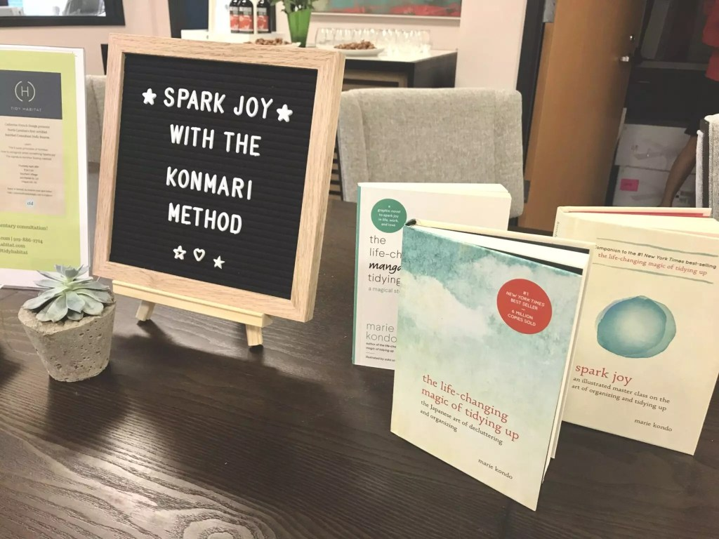 Sparks of joy wit Cat French Design's Konmari event