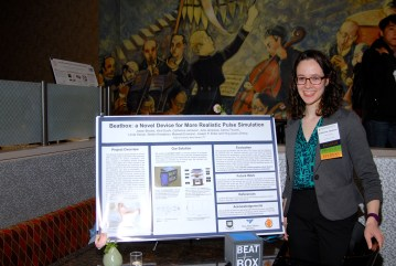 I presented at the Haptics Symposium Work-In-Progress poster session with the BeatBox.