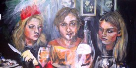 Commission 305mm x 710mm Acrylic on Canvas 2013