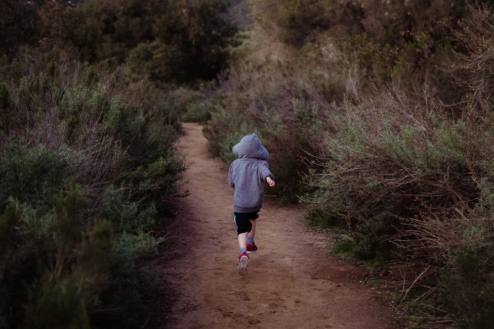 boy dad dog hiking in mission trails {san diego newborn baby child family couples photographer}