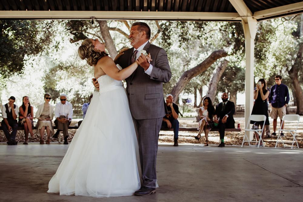 father bride dancing laughing {virginia beach wedding couples family newborn photographer}