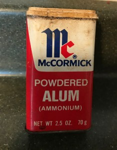 Old McCormick Powdered Alum Spice Tin