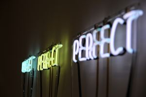 Neon Signs saying Perfect