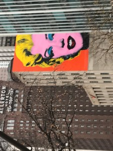 Marilyn Monroe Picture on Building