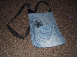 Jeans leg bag