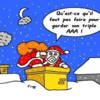 Une chanson de Noël d'actualité : Petit Papa (véniel .. oups!) Noël, quand tu descendras du ciel.......