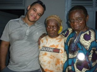 Obele with our son Sam and my husband Clem