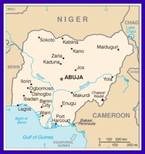 Maiduguri is in the northeastern corner of Nigeria near Lake Chad