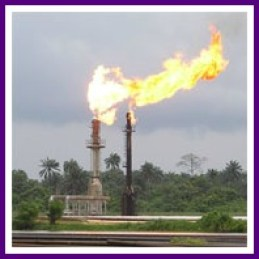 gas flaring harms environment even in Nigerian Indpendence