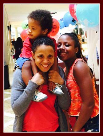 Beth, Ikem, and Nkiru at the mall