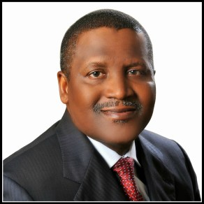 Aliko Dangote, top of the list