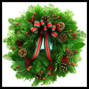 We have a wreath like this on our front door.