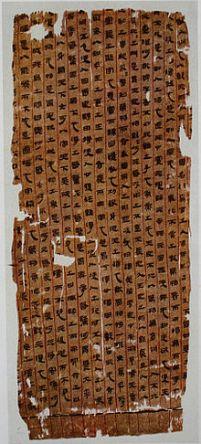 Mawangdui LaoTsu from Wikipedia; 2nd century BC
