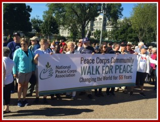 Walk for Peace with Peace Corps friends