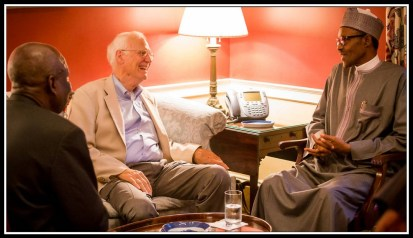 President Buhari and Professor John Paden the occasion for my first small world occurrence