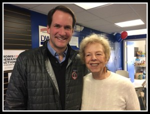 Jim Himes at Democratic Hdqtrs in Westport Tues afternoon