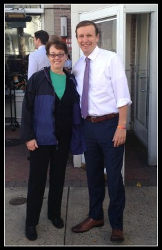 My friend Laura with Senator Murphy