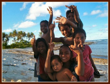 Children from Tarawa, one of Kiribati's islands