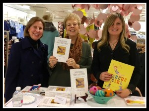 Jo, door prize winner, me, and children's author and illustrator Clare Pernice