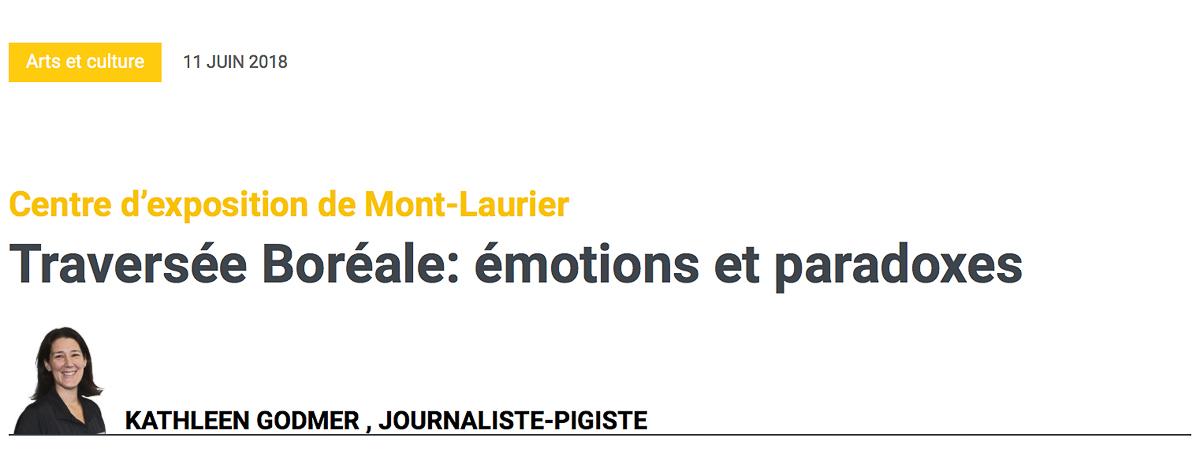 Titre de l'article : Traversée boréale, émotions et paradoxes