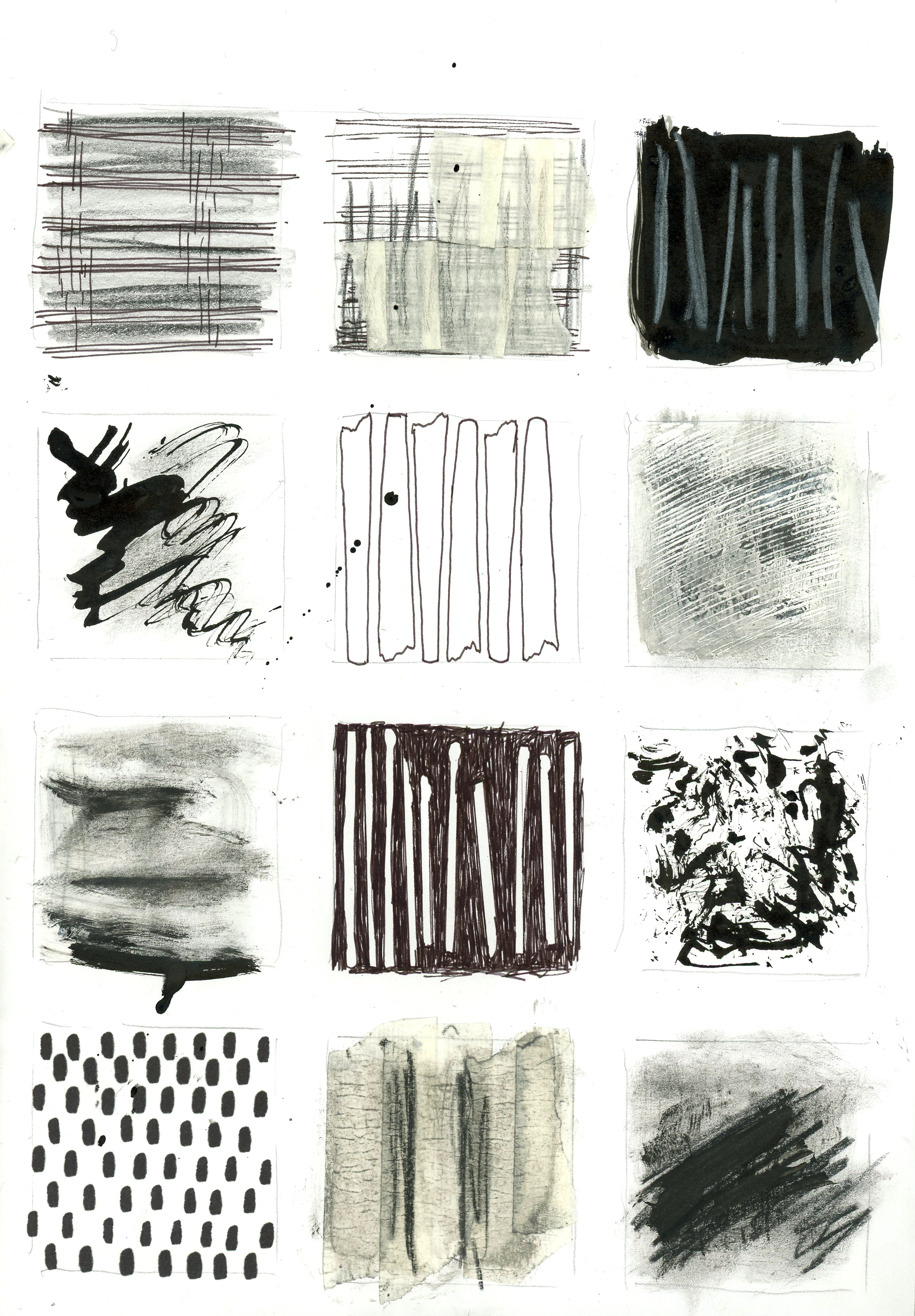 Drawing Mark Making Swatches
