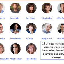 How to Successfully Implement Fast Dramatic and Powerful Change in Organizations
