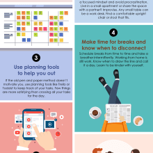 How to keep sane working from home for an extended period_Infographic