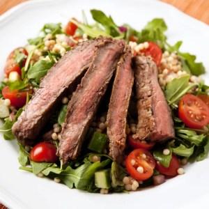 home delivered meals steak salad