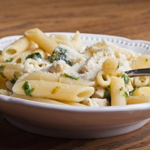 home delivered meals - penne with asparagus