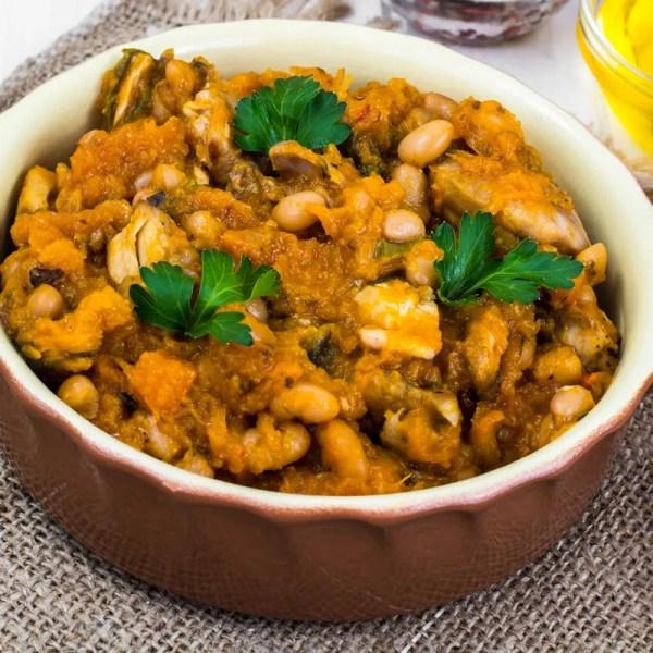 home delivered meals - roasted vegetable cassoulet