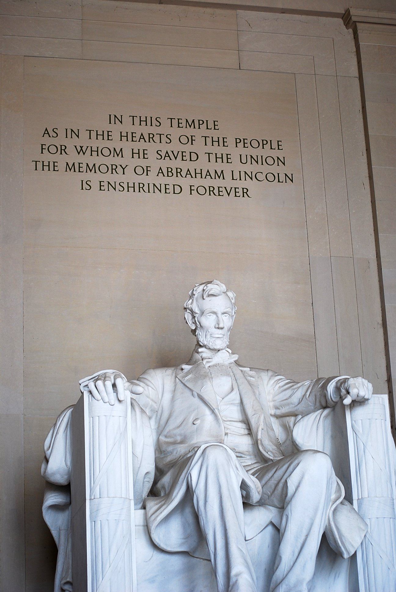 Lincoln Memorial, Washington, D.C.  Photo by Cathy Sherman.