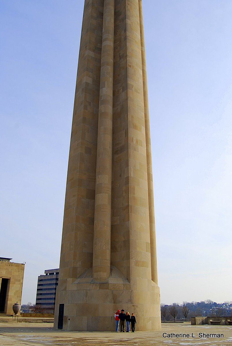 The Liberty Memorial is so tall you can't see the top!