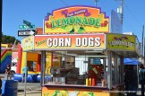 After playing on the inflatable playground, you could order corn dogs and lemonade.