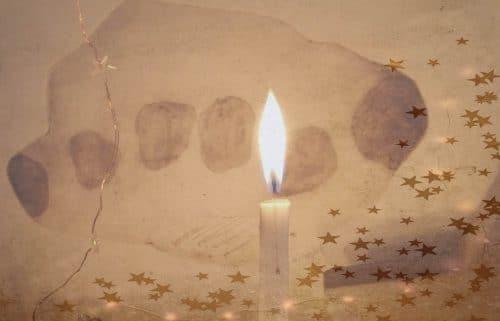 bougie rituel funéraire