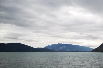 vue du lac du bourget