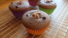 Gluten-free and lactose-free chocolate muffins