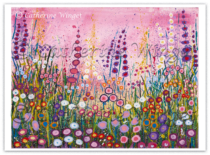 Fine Art print Cottage Garden Flowers Catherinewinget.com