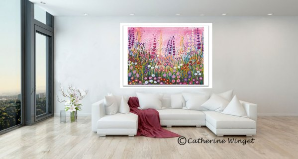 cottage garden flowers fine artgiclee print Catherinewinget.com catherine winget