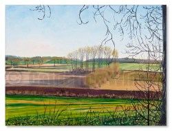 Oil landscape Botolph Claydon by Catherine Winget