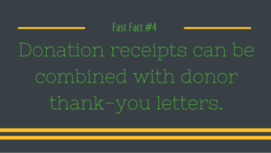 4 donation receipts can be combined with donor thank you letters