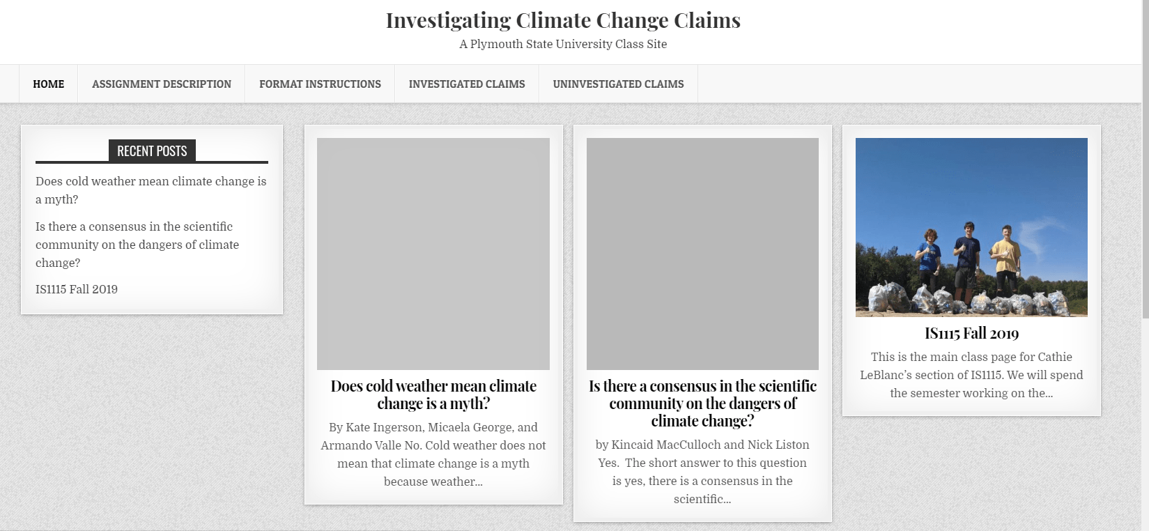 climate change web site