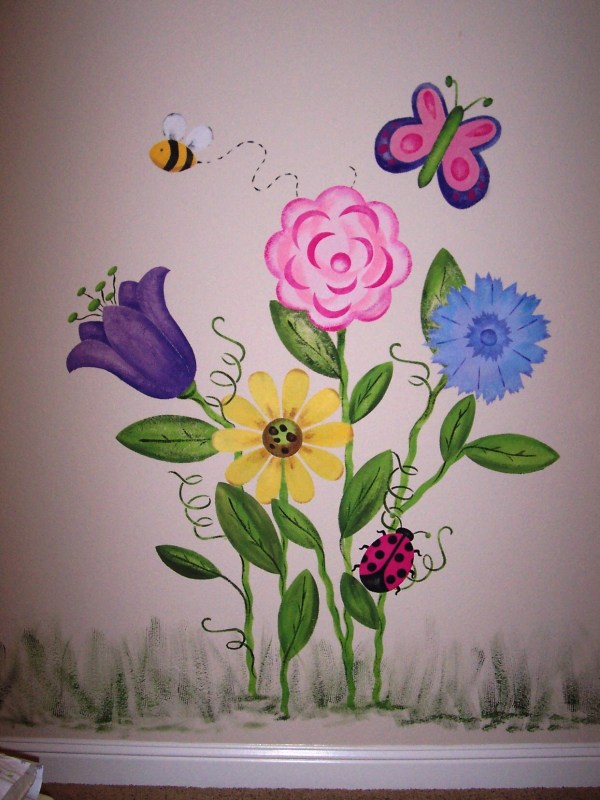 Childrens Painted Wall Murals - Cathie'