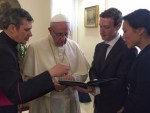 Pope and Facebook founder – communication technologies could alleviate poverty and encourage hope