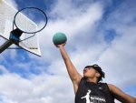 Basketball drops church-goer