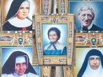 The four women canonized with Newman