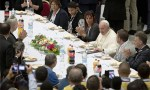 Disadvantaged and homeless dine at Vatican with Pope Francis